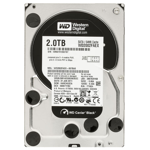 "WD BLACK 3.5"" - 2.0TB - 991 Solutions - RSA"