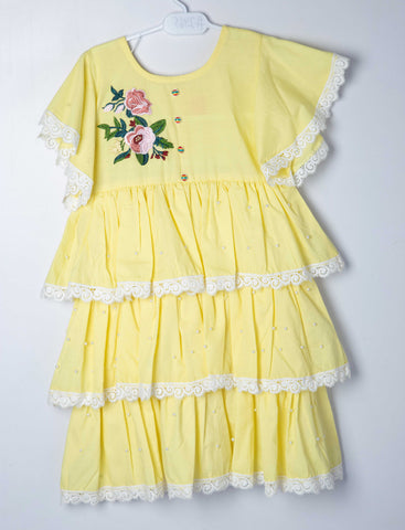 Summery Frock - Lemon - Modest Clothing