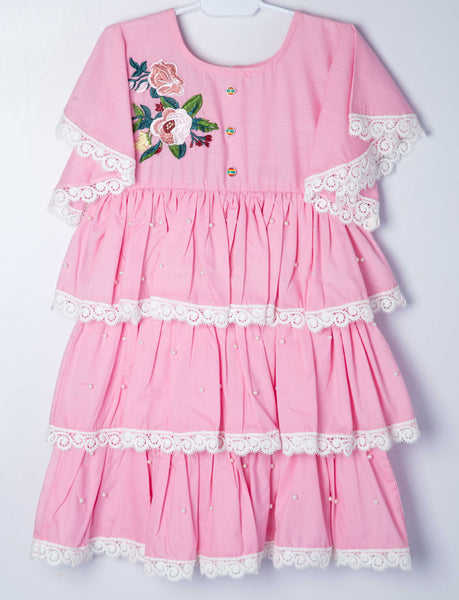 Summery Frock - Pink - Modest Clothing
