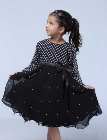 Swanky Frock - Black - Modest Clothing