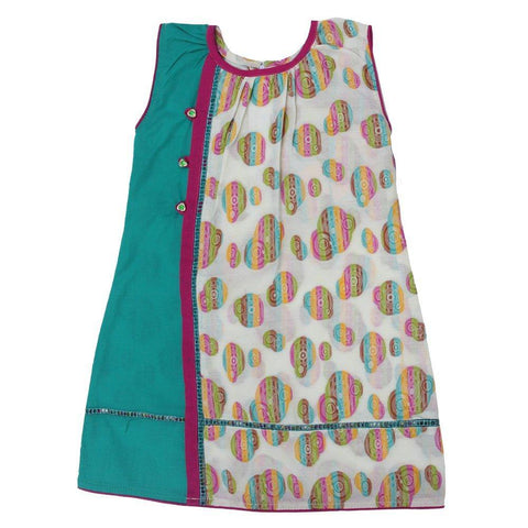 Printed Fun-Frock & Trouser (Green) - Modest Clothing