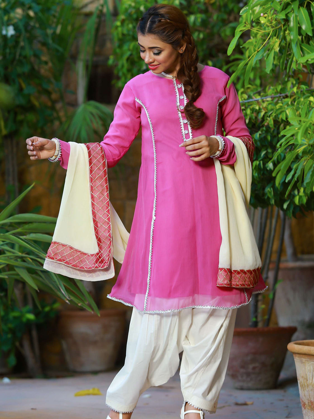 Zircon - Pink - Kurta - Modest Clothing