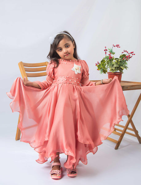 Peach Magic (Peach Maxi for baby girls) - Modest Clothing