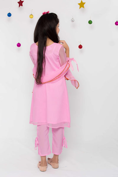 Pintuck Style Dress – Pink - Modest Clothing