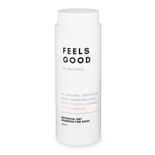 Dry Shampoo For Dogs<br>Feels Good <br>White Peach and Ginger Lazy Shampoo 200ml
