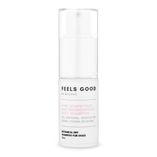 Dry Shampoo for Dogs - Feels Good Pink Grapefruit and Passionfruit Lazy Shampoo 30ml