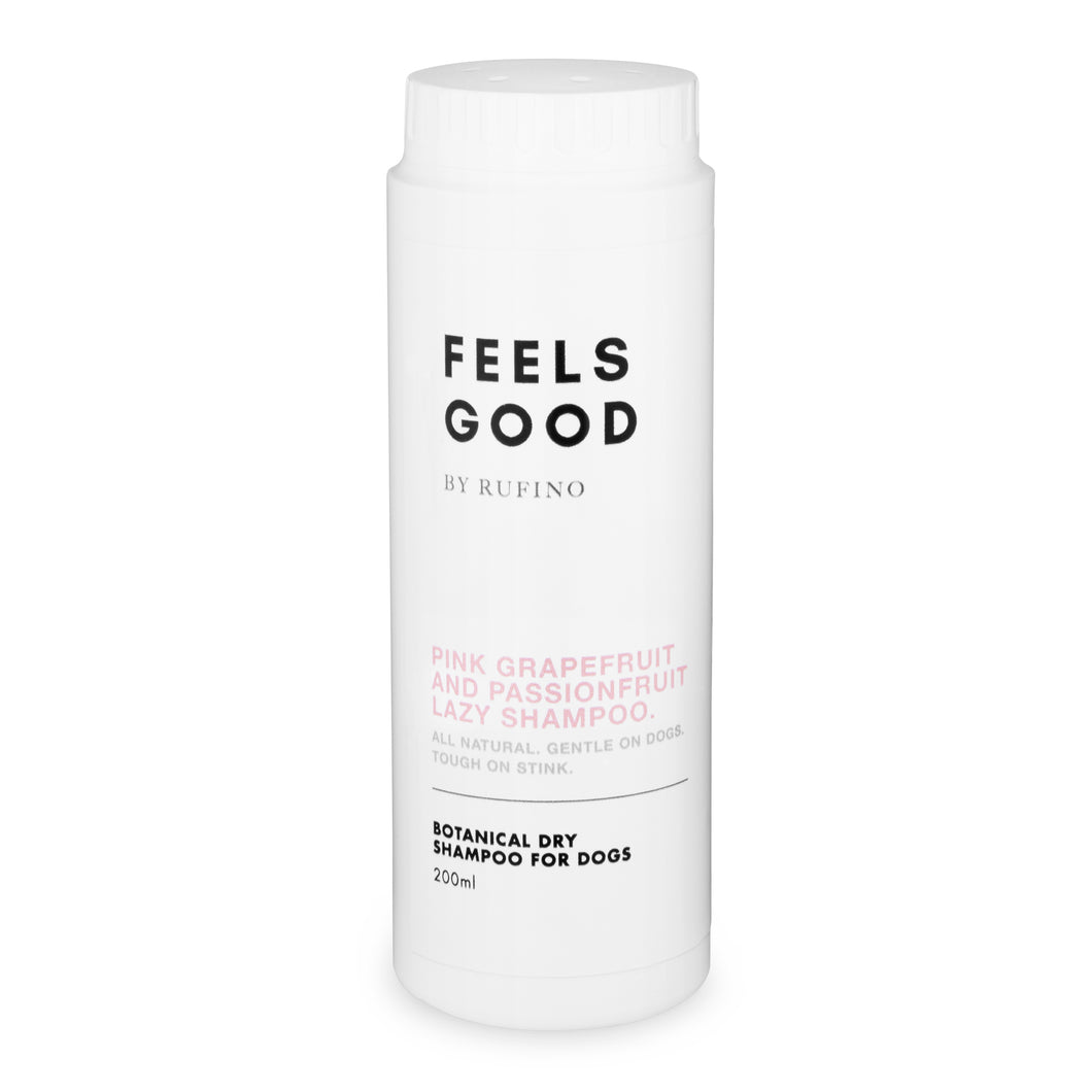 Dry Shampoo For Dogs - Feels Good Pink Grapefruit and Passionfruit Lazy Shampoo 200ml