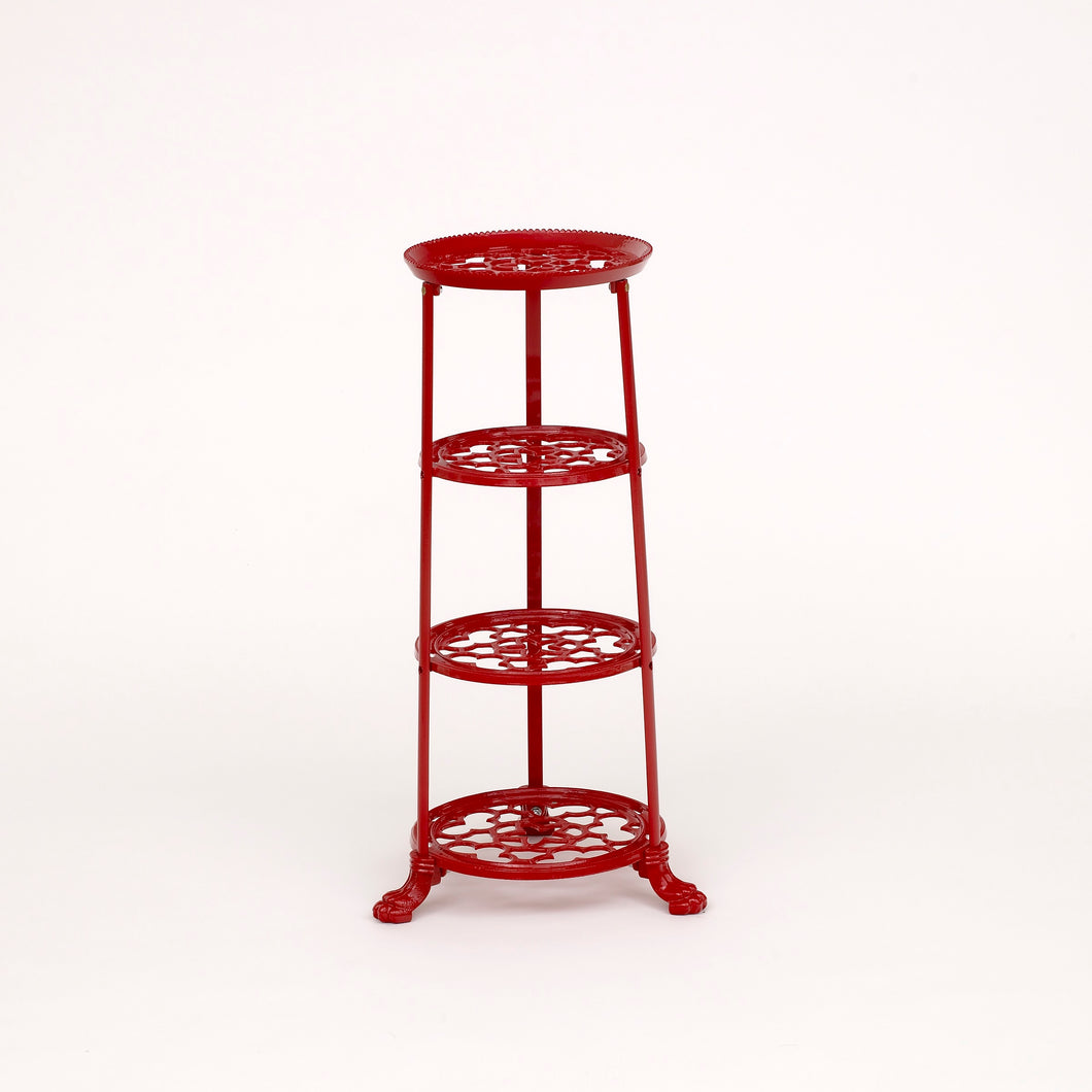 D1630RF 4 Tier Pan Stand Red