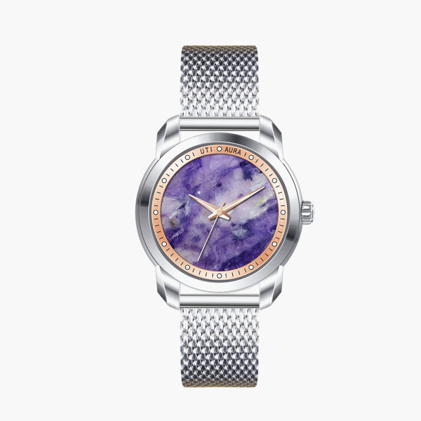 Charoite Rose Gold - Aura Jewellery Watch Series