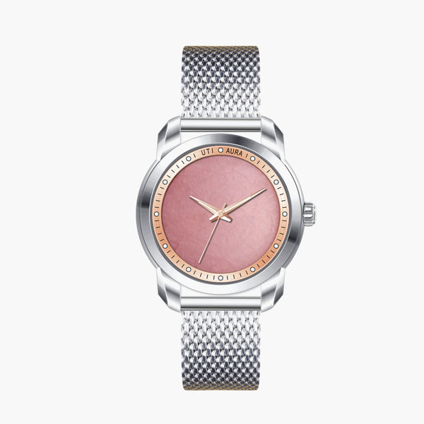 Rose Quartz Rose Gold - Aura Jewellery Watch Series