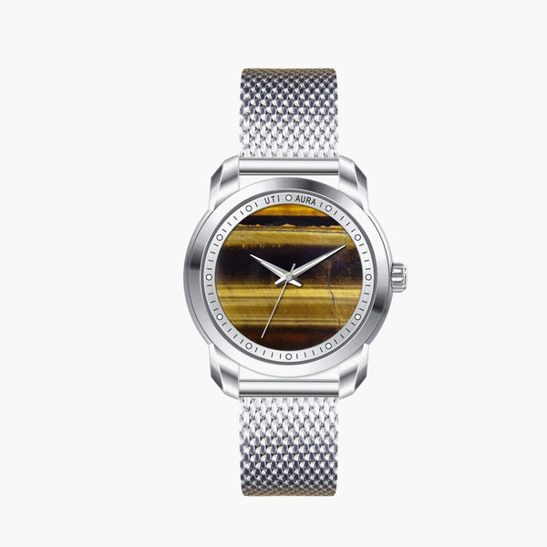 Tiger Eye Silver White - Aura Jewellery Watch Series