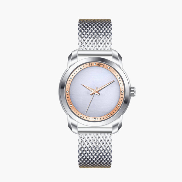 White Jade Rose Gold - Aura Jewellery Watch Series