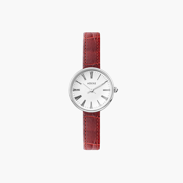 MINI SISTINE Silver Case - Red 30mm