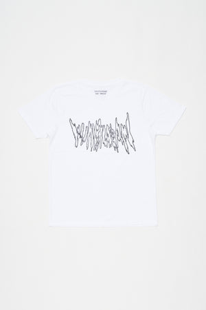 METAL LOGO T-SHIRT (WHITE)