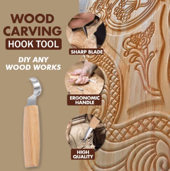Wood Carving Hook Tools Set