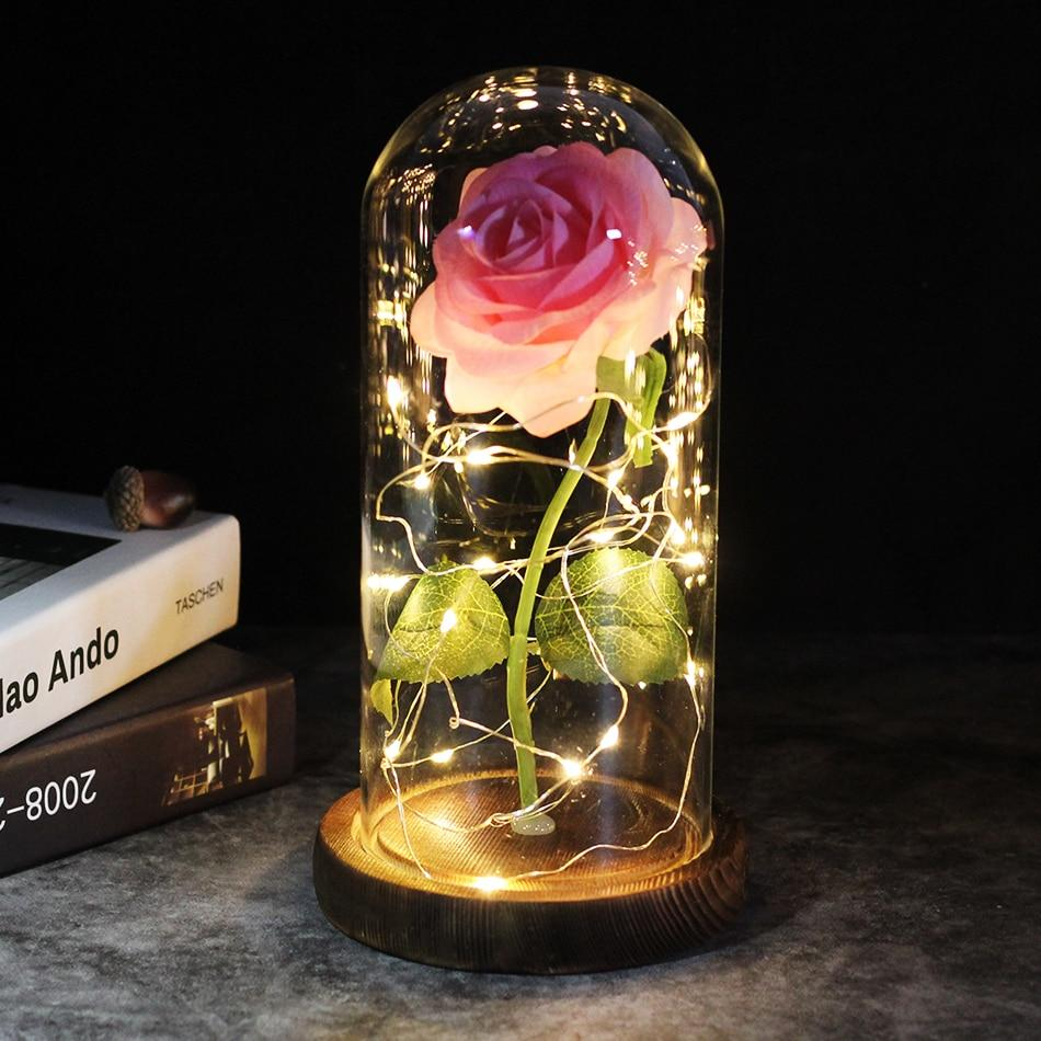 Enchanted Galaxy LED Roses