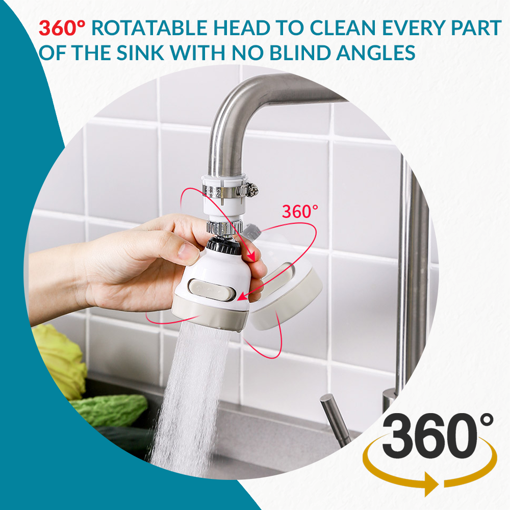 360° Water Filter Nozzle Extension