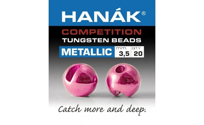 Hanak Metallic+ Slotted Tungsten Beads