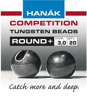 Hanak Round+ Slotted Tungsten Beads