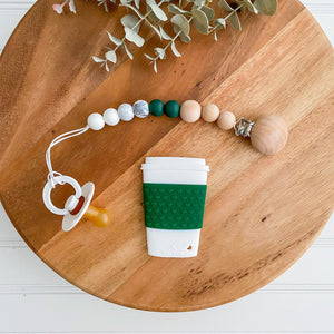 Green Coffee Teether Set