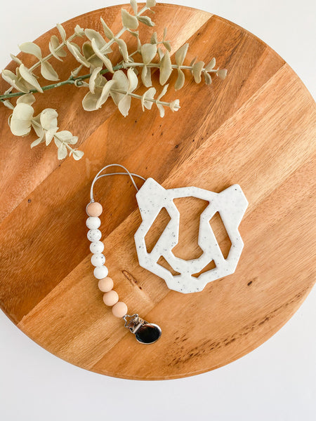 Geometric Panda Teether Set