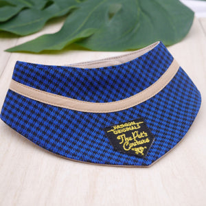 Bandanas - Azure Houndstooth - The Pet's Couture