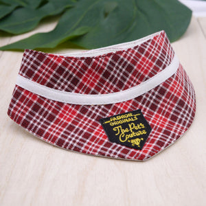 Bandanas - Shades of Red Plaids - The Pet's Couture