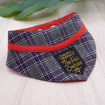 Bandanas - Grey Tartan - The Pet's Couture