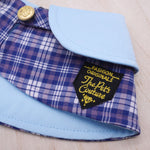 Capes - Baby Blue Collar with Tartan Print (Variant 2) - The Pet's Couture