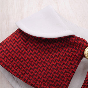 Capes - Cream Collar with Houndstooth Print - The Pet's Couture