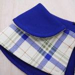 Capes - Azure Collar with Tartan Print - The Pet's Couture