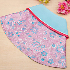 Spring Of Youth in Rose Pink Arctic Blue CNY Cape (Ready Stock) - The Pet's Couture