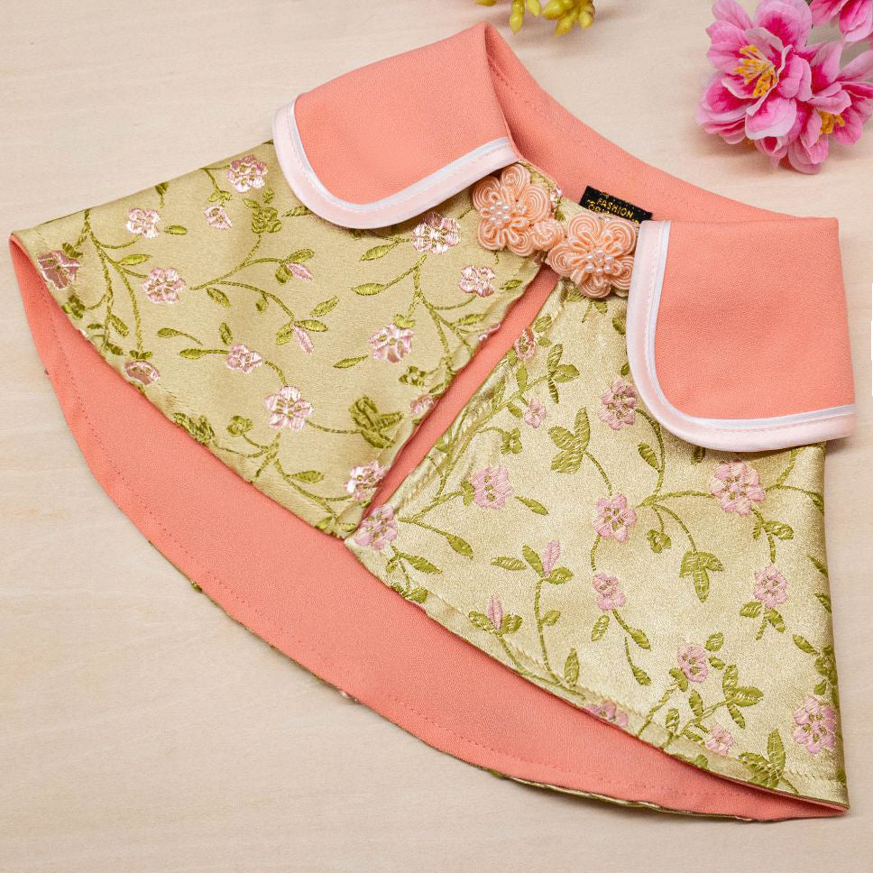 Spring Of Faith in Golden Apricot CNY Cape (Ready Stock) - The Pet's Couture