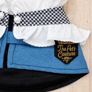 Denim Capes - Checkered Maiden - The Pet's Couture