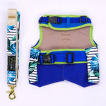 Tropical Leaves Harness + Leash Set - Twin In Style (Tropical Leaves) - The Pet's Couture