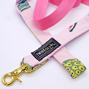 Tropical Fruits Harness Leash Set - Twin In Style (Skirt) - The Pet's Couture