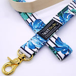 Tropical Leaves Harness Leash Set - Twin In Style (Tropical Leaves) - The Pet's Couture