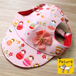 Walking Cap For Her - Russian Doll with Pink Flower Ornament - The Pet's Couture