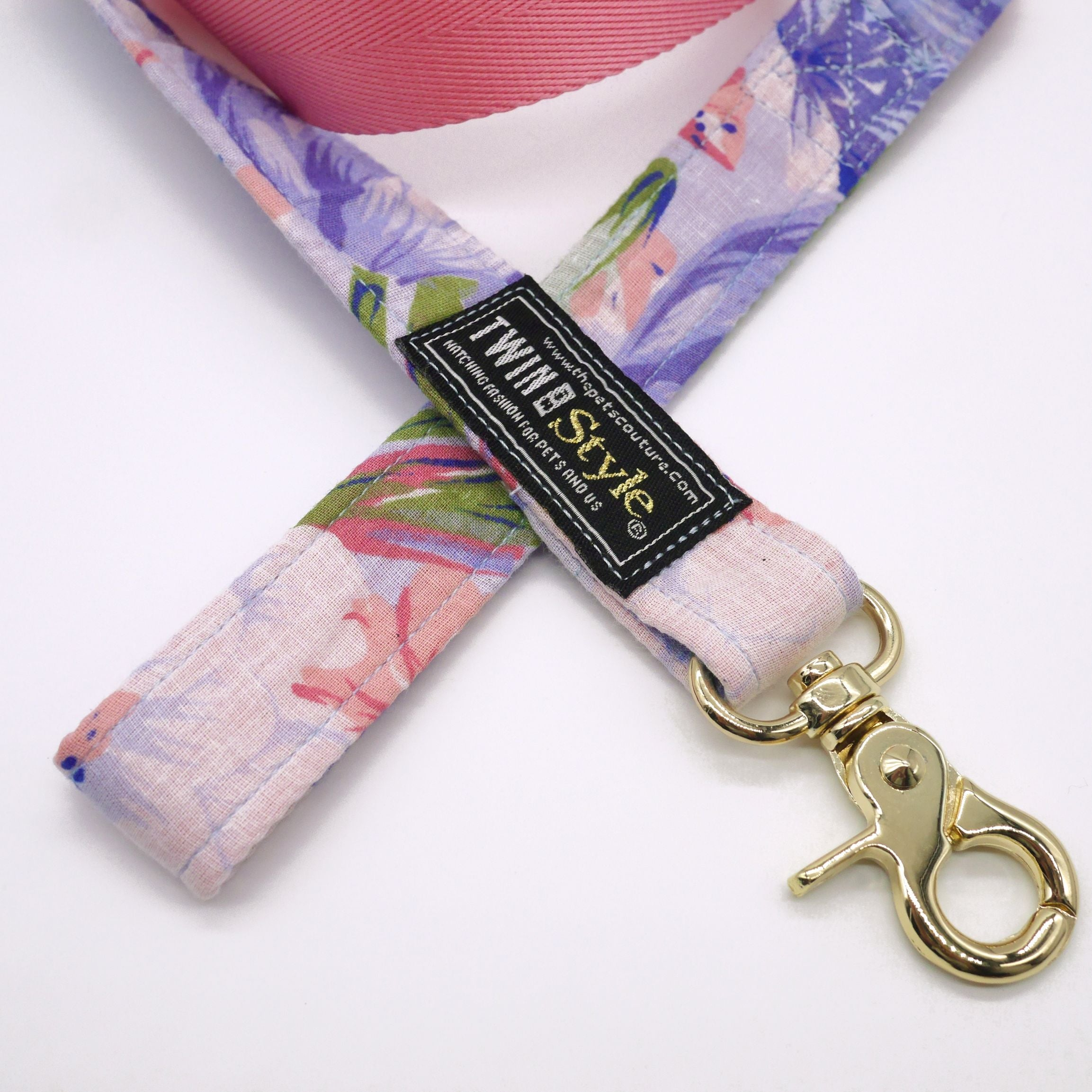 Tropical Fauna Pink Harness with Detachable Skirt + Leash Set - Twin In Style (For Her) - The Pet's Couture