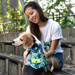 Tropical Leaves Matching T Shirt by Twin In Style (Unisex) - The Pet's Couture