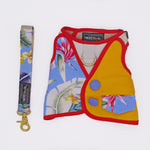 Tropical Fruits with Half Mango Yellow Print Harness + Leash Set - Twin In Style (Unisex) - The Pet's Couture