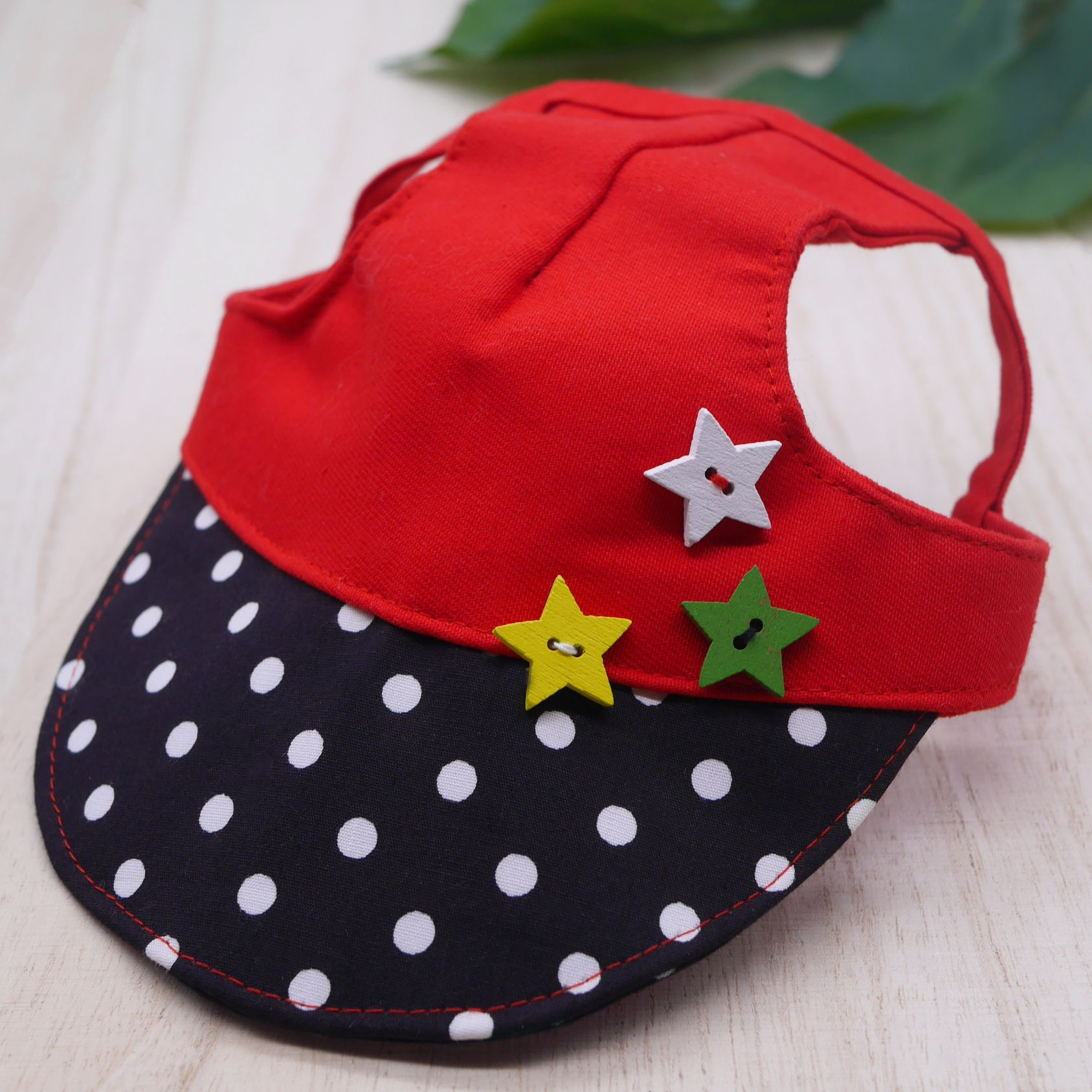 Walking Caps For Him - Polka Pop with Stars