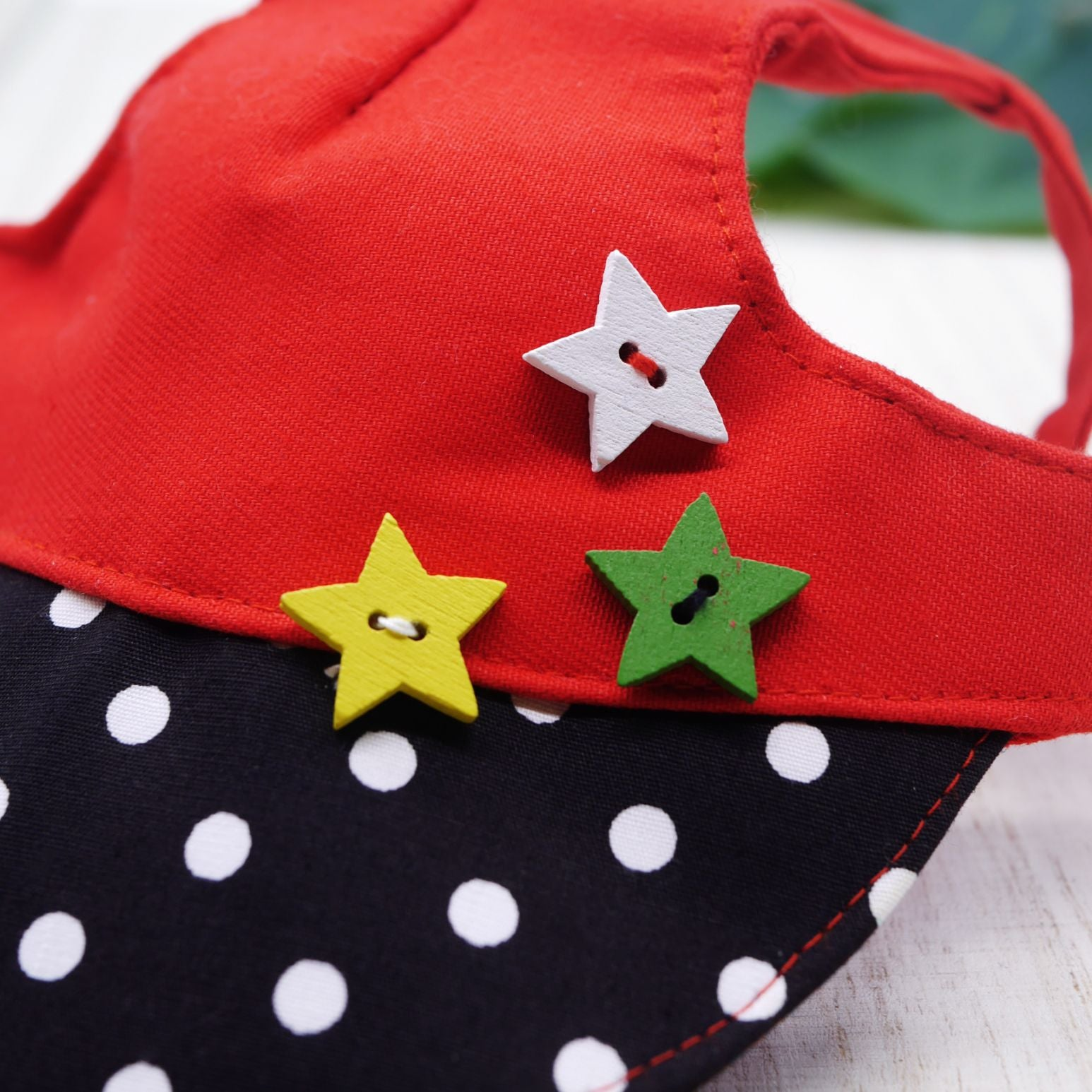 Walking Caps For Him - Polka Pop with Stars - The Pet's Couture