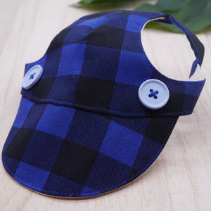 Walking Caps For Him - Checkered Blue