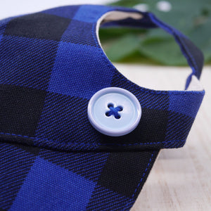 Walking Caps For Him - Checkered Blue - The Pet's Couture