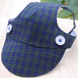 Walking Caps For Him - Plaids in Dark Green - The Pet's Couture