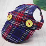 Walking Caps For Him - Multi Coloured Plaids - The Pet's Couture