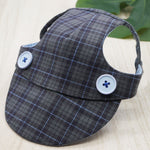 Walking Caps For Him - Plaids In Charcoal Grey - The Pet's Couture