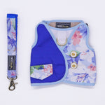 Tropical Fauna Blue Harness + Leash Set - Twin In Style (Unisex) - The Pet's Couture