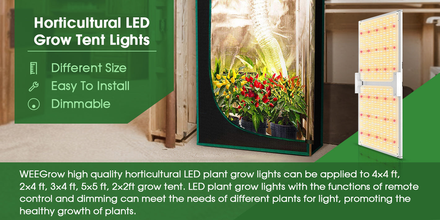 Horticulture LED Grow Tent Lights Banner